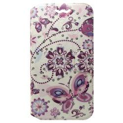 """Чехол-книжка универсальный 4.8-5.3"""" pink Batterfly diamond"""
