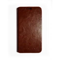 Кожаный чехол-книжка Lenovo A398+ brown