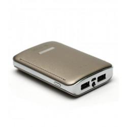 Универсальная мобильная батарея PowerPlant PB-LA9236 7800mAh Beige (PPLA9236) + универсальный кабель Гар. 12 мес.