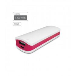 Универсальная мобильная батарея ColorWay 2200mAh White/Red (CW-PB022LIB1RD) Гар. 12 мес.