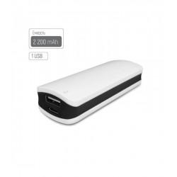 Универсальная мобильная батарея ColorWay 2200mAh White/Black (CW-PB022LIB1BK) Гар. 12 мес.