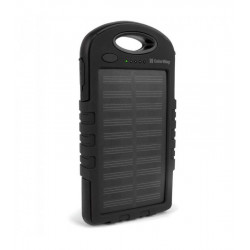Универсальная мобильная батарея ColorWay Solar 6000mAh Black (CW-PB060LPA2BK-SF) Гар. 12 мес.