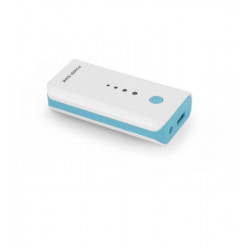 Универсальная мобильная батарея Esperanza 5200 mAh White-Blue (EMP104WB) Гар. 12 мес.