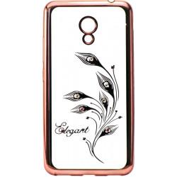 Силикон Meizu M5C pink bamper Elegant swarowski