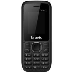 Телефон BRAVIS C182 Simple Dual Sim (black) UA-UСRF Гарантия 12 мес.