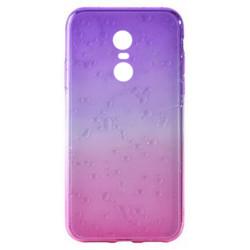 Силикон Xiaomi Redmi5 Plus pink/violet 3D Капля