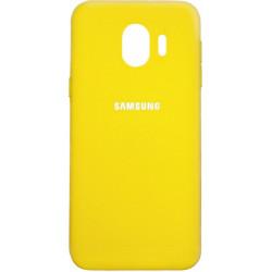 Накладка SA J4 (2018) yellow Soft Case