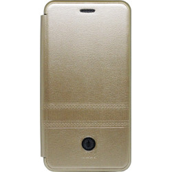 Чехол-книжка Xiaomi Redmi6 gold Metall iMAX