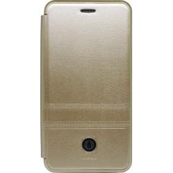 Чехол-книжка Xiaomi Redmi6A gold Metall iMAX