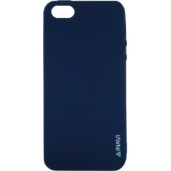 Силикон iPhone 5 dark blue Inavi