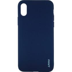 Силикон iPhone X dark blue Inavi