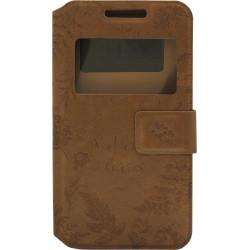 """Чехол-книжка универсальный 4.8-5.3"""" brown Natere Window"""