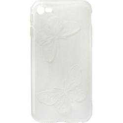 Силикон iPhone 6 white Baterfly
