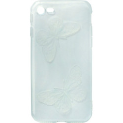 Силикон iPhone 7 light blue Baterfly