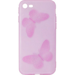 Силикон iPhone 7 violet Baterfly