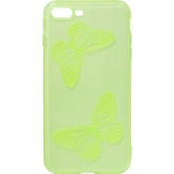 Силикон iPhone 7+ lime Baterfly