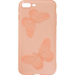 Силикон iPhone 7+ red Baterfly