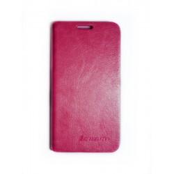 Кожаный чехол-книжка Lenovo A628 pink