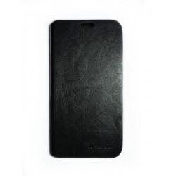 Кожаный чехол-книжка Lenovo A560 black
