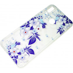 Силикон Huawei P Smart Plus violet Flowers iPefet