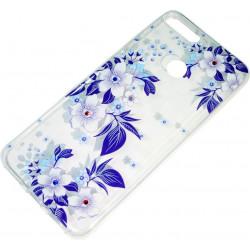 Силикон Huawei Y6 (2018)/Honor7A Pro violet Flowers iPefet