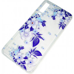 Силикон SA A750/A7 (2018) violet Flowers iPefet