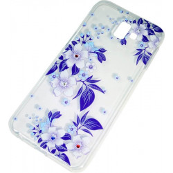 Силикон SA J610/J6+ violet Flowers iPefet