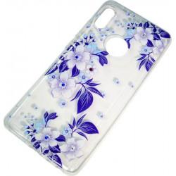 Силикон Xiaomi Redmi Note5/5Pro violet Flowers iPefet