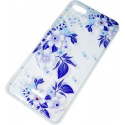 Силикон Xiaomi Redmi6A violet Flowers iPefet