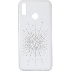 Силикон Huawei P Smart Plus/Nova 3i white Silver Shine