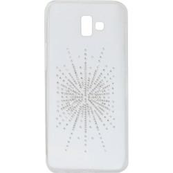 Силикон SA J610/J6+ white Silver Shine
