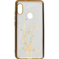 Силикон Xiaomi Redmi Note5/5Pro gold bamper Orchid swarowski