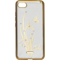 Силикон Xiaomi Redmi6A gold bamper Orchid swarowski