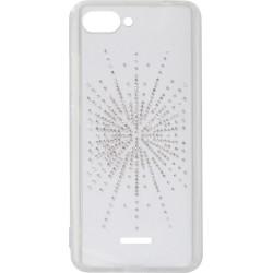 Силикон Xiaomi Redmi6A white Silver Shine