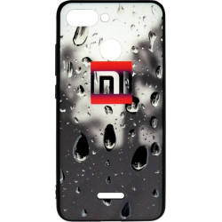 Накладка Xiaomi Redmi6 black 3D Rain