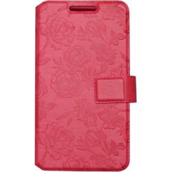 """Чехол-книжка универсальный 5.3-5.8"""" pink Roses Fashion S"""