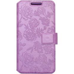 """Чехол-книжка универсальный 5.3-5.8"""" violet  Roses Fashion S"""