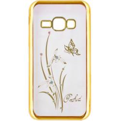 Силикон SA J120 gold bamper Orchid swarowski