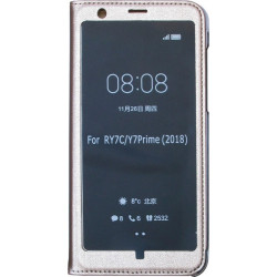 Чехол-книжка Huawei Y7 Prime (2018)/Honor7C/7C Pro gold Window Full