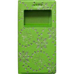 """Чехол-книжка универсальный 5,0"""" green Diamonds Window"""