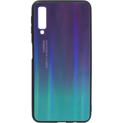 Накладка SA A750/A7 (2018) green/violet Chameleon Glass