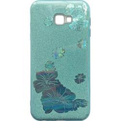 Силикон SA J415/J4+ blue Glitter Flowers 3D
