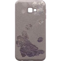 Силикон SA J415/J4+ pink Glitter Flowers 3D