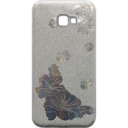 Силикон SA J415/J4+ silver Glitter Flowers 3D