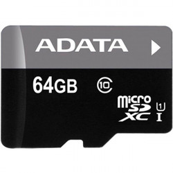 Карта памяти Micro SD 64GB/10 class Adata