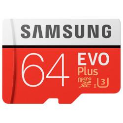Карта памяти Micro SDXC 64GB/10 class EVO plus Samsung