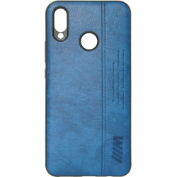 Силикон Huawei P Smart Plus blue BMW Leather