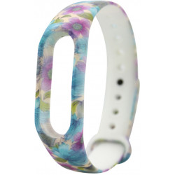 Ремешок Xiaomi Mi Band2 White/Color Flowers