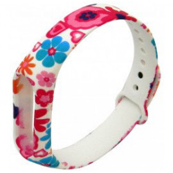 Ремешок Xiaomi Mi Band2 White/Pink Flowers
