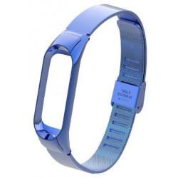 Ремешок Xiaomi Mi Band 4 мелкое звено metall blue